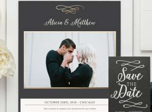 Save the Date template & DIY Wedding Stationery